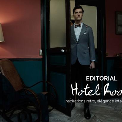 photos editorial hotel room menswear corner