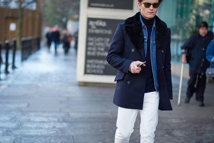 pantalon blanc et denim