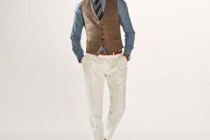 pantalon blanc a double plis massimo dutti