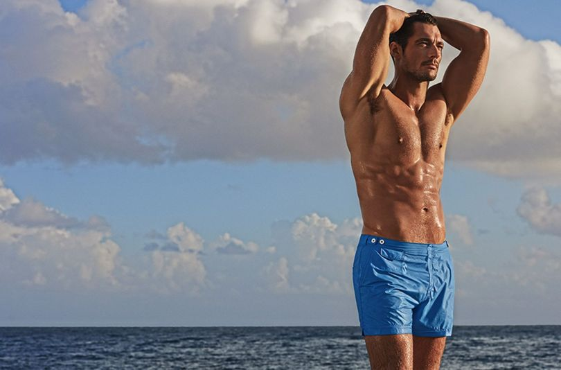 tailored swim short david gandy